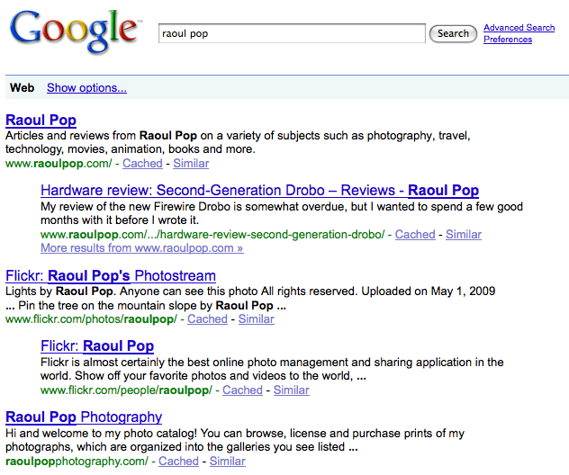 google-search-raoul-pop