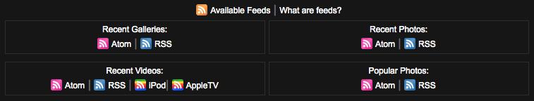 smugmug-available-feeds