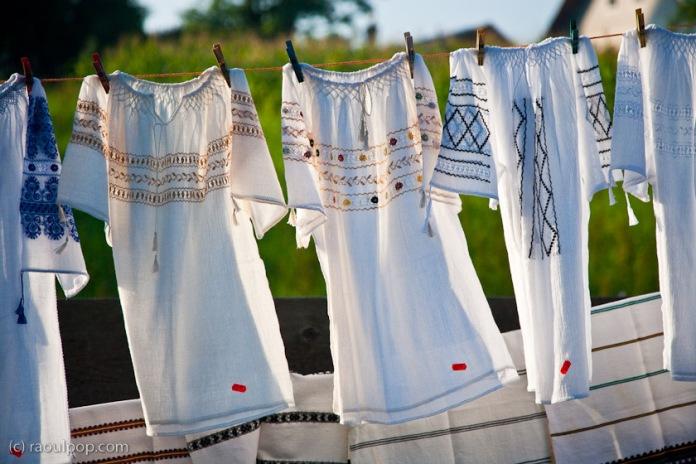 Handmade linen shirts, Gura Humorului, Bucovina, Romania