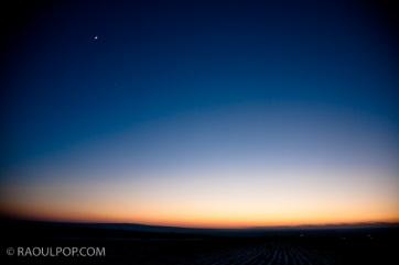Twilight in the open field