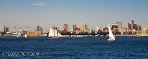 Manhattan Bay, New York, USA.