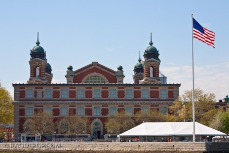 Ellis Island, main building, near New York, USA.
