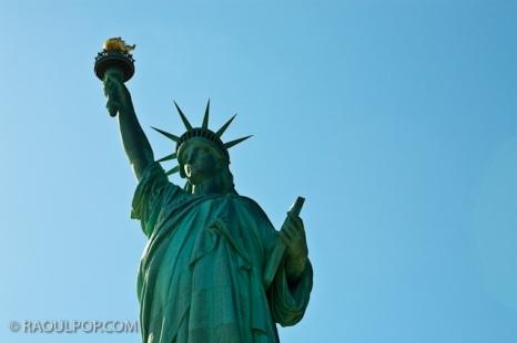 Statue of Liberty, Upper Bay, USA.