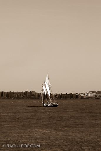 Sailboat, Upper Bay, New York, USA.
