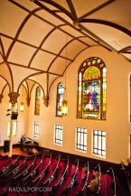 Interior, Manhattan SDA Church, New York, USA.