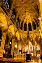 Inside St. Patrick's Cathedral, Manhattan, New York, USA.
