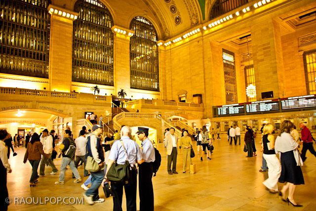 Interior, Grand Central Station, at night. Manhattan, New York, USA.