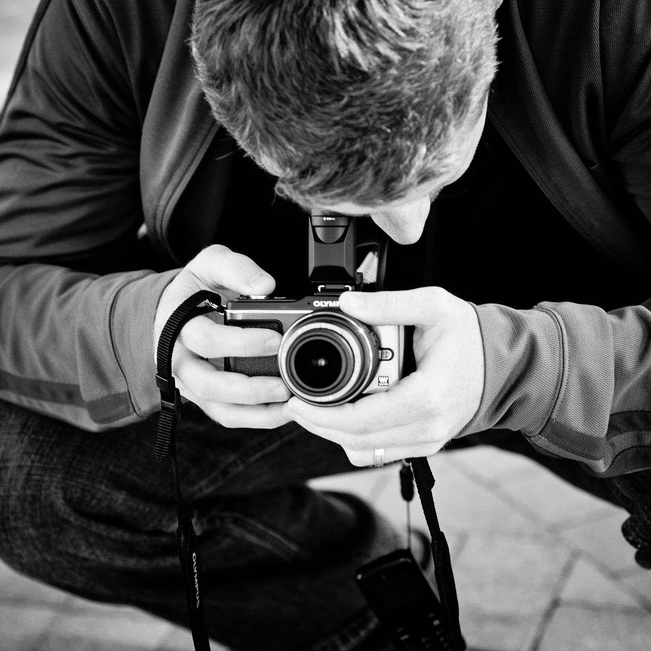 Raoul using the Olympus PEN E-P2
