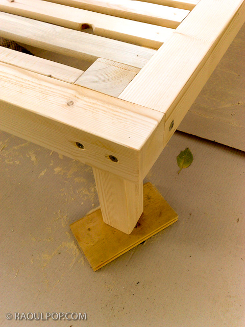 how to build a wooden frame for a bed