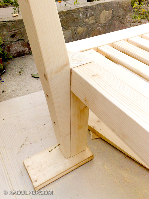 the underside of the bed, which allows you to see the timber frame ...