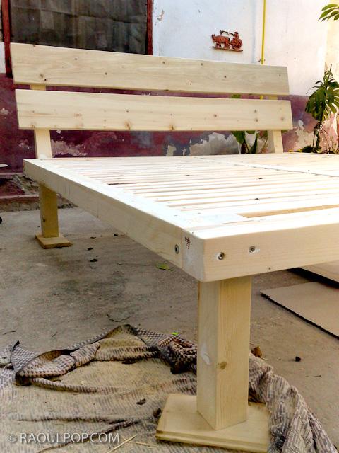 wood bed frame plans king