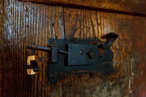 A medieval door lock, Biertan, Romania