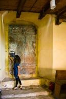 Doorway inside the church, Biertan, Transilvania, Romania.