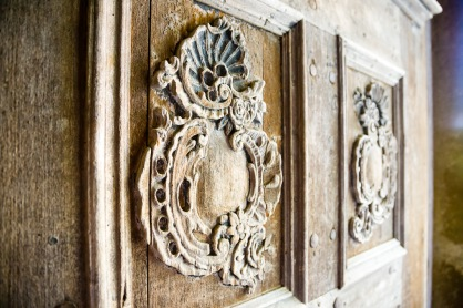 Doorway to the church, Biertan, Transilvania, Romania.