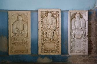 Historical gravestones, Biertan, Romania.