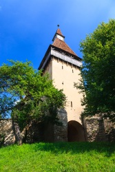 Between the inner and outer fortified walls, Biertan, Transilvania, Romania.