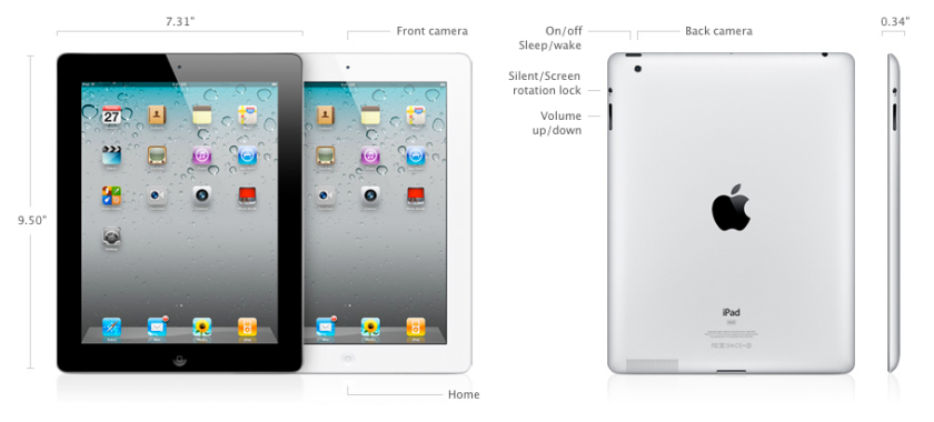 iPad 2 Measurements
