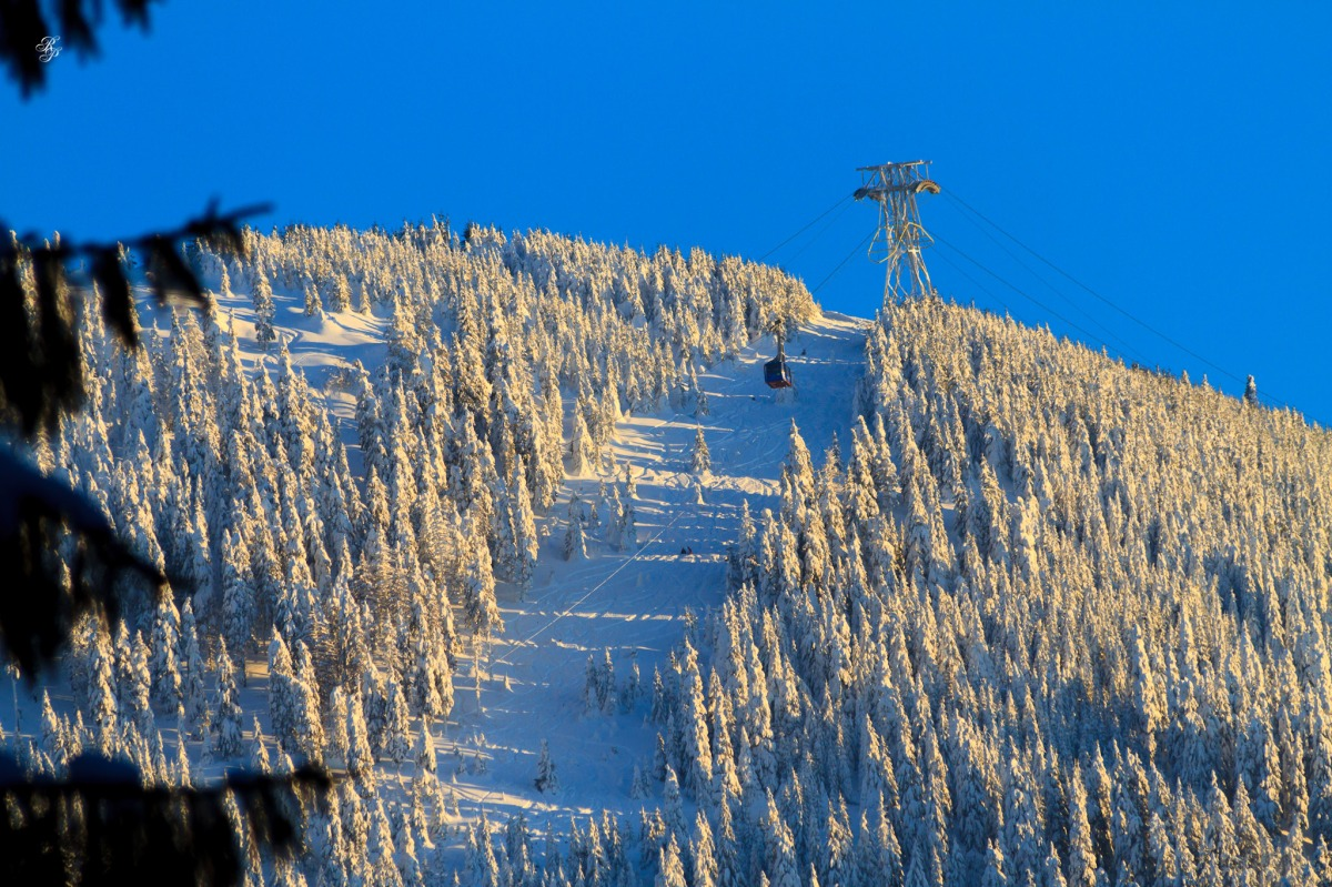 Winter in Poiana Brasov and Brasov