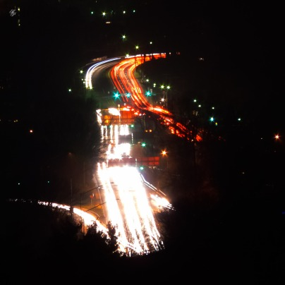 I-270 and Georgetown Rd at night