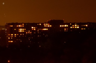 North Bethesda apartments at night