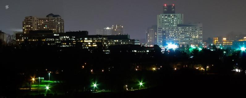 Rockville skyline at night