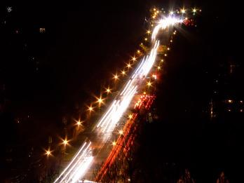 Tuckerman Lane at night