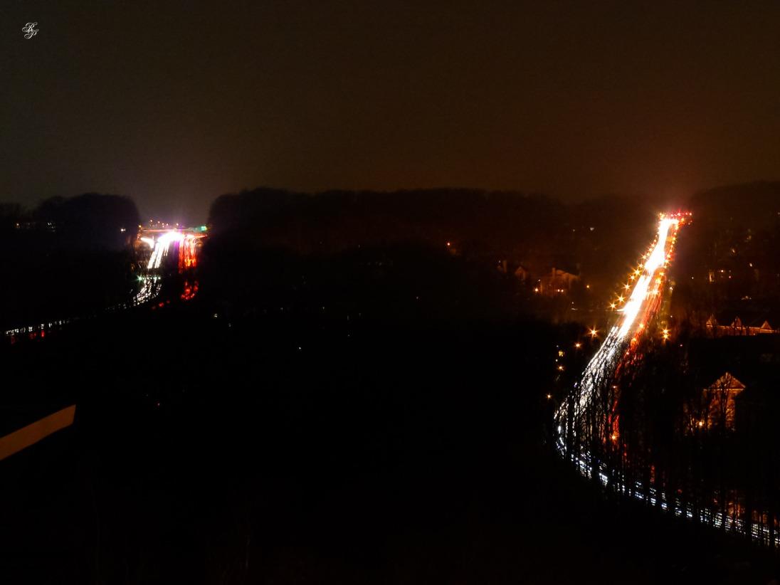 I-270 and Tuckerman Lane at night