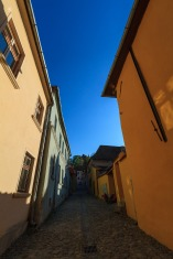In Sighisoara's Old Town, inside the original fortified walls.