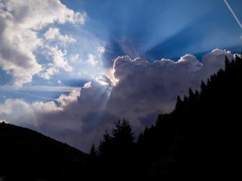 The sky after a rainstorm