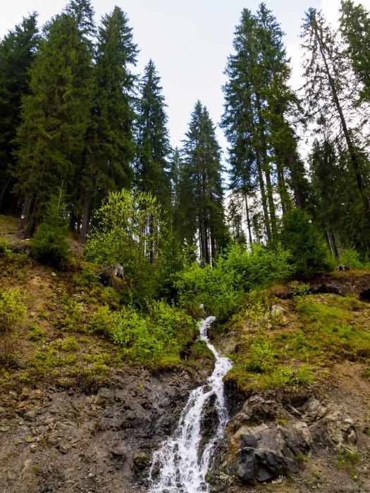 A waterfall
