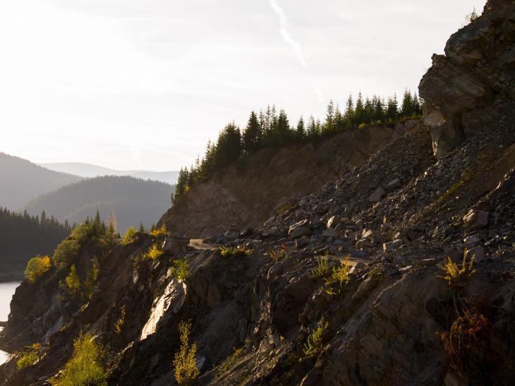 A rocky slope on the Transalpina