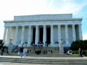 In front of the Lincoln Monument.