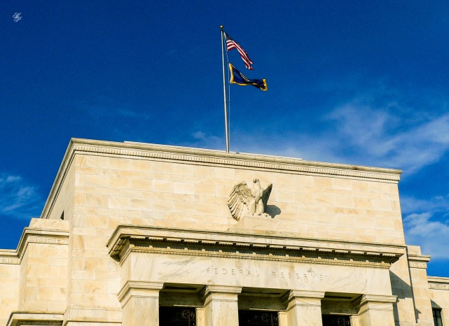 Federal Reserve building, downtown Washington, DC, USA.
