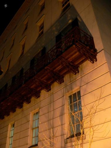 Corner with balcony