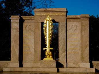 Flaming Sword, The Second Division, World War I Memorial, Washington, DC, USA.