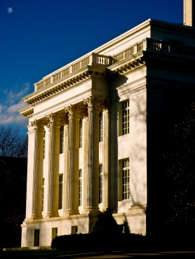 Side view, Memorial Continental Hall, Washington, DC, USA.