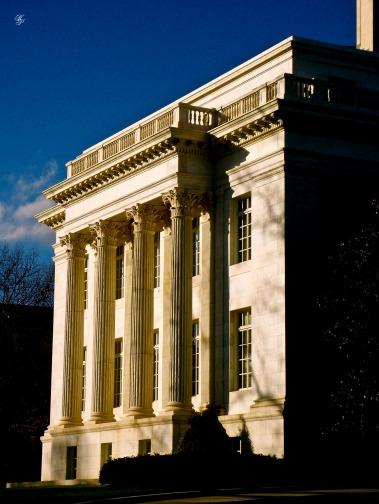 Side view, Memorial Continental Hall, Washington, DC, USA.