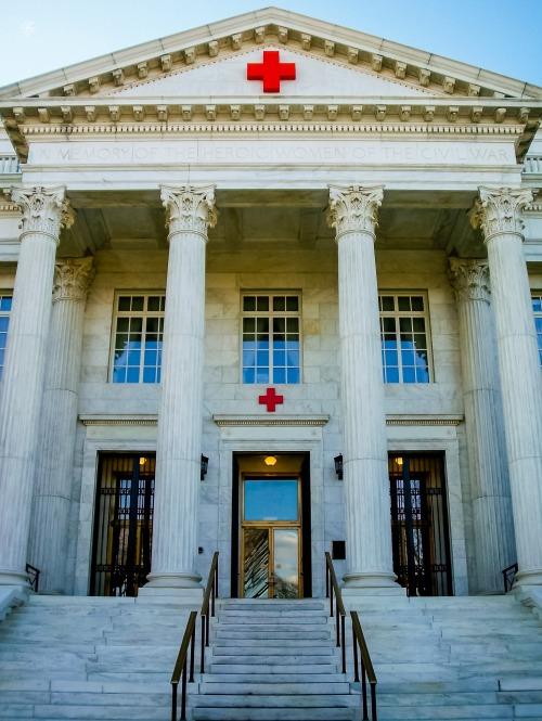 Entrance, Red Cross Headquarters, Washington, DC, USA.