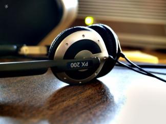 Sennheiser PX 200 headphones.
