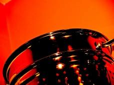 Stainless steel strainer.