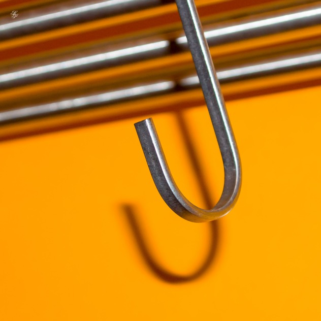 Stainless steel hook.