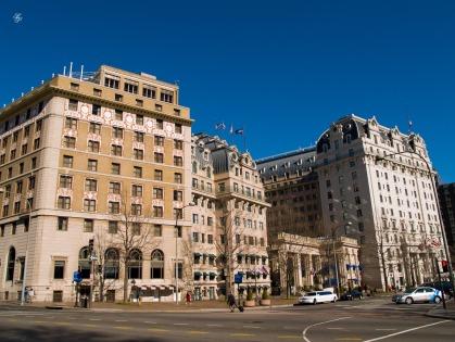 Hotel Washington and The Willard Inter-Continental Hotel, Washington, DC, USA.