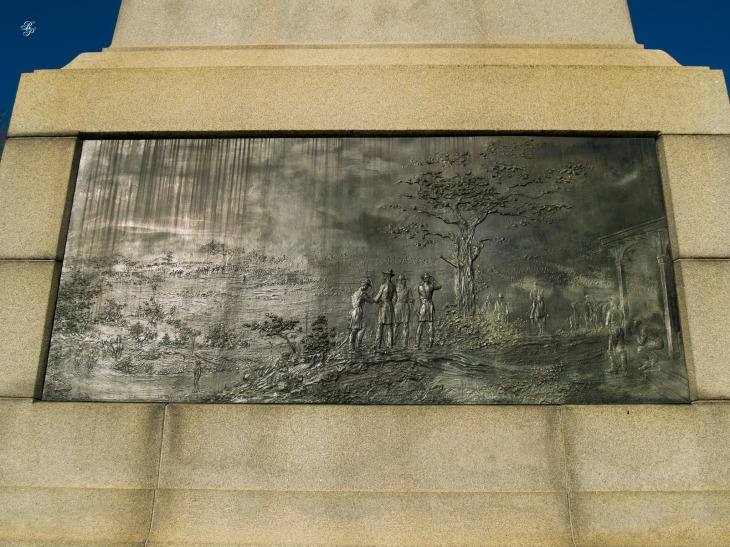 A memorial bronze plaque near the Department of the Treasury, Washington DC.