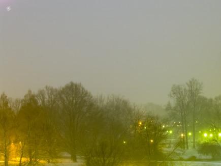Winter dusk, Grosvenor Park.