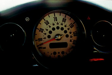 Dashboard, 2003 MINI Cooper S. 35mm film, Exakta EXA Ia.