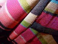 Abstract texture, multi-colored blouse, macro.