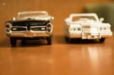 Model cars, macro, detail.