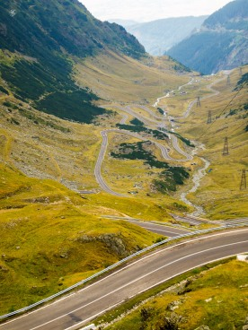 The slopes of the Transfagarasan Road