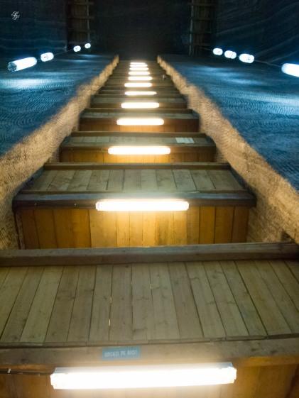 Stairway to the underground hall