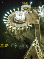 The underground lake and island